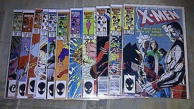 Uncanny-X-Men-210-220-Marvel-Comics