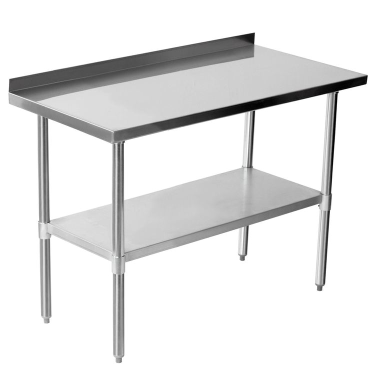 Commercial 48 X 24 Stainless Steel Work Bench Catering Table Backsplash