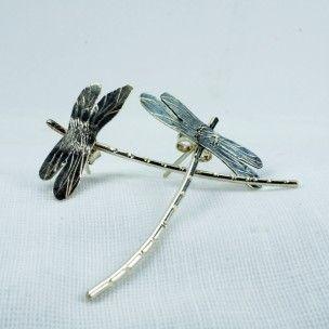 Pendientes libelula de Susana Ruiz #art #handmade #earrings