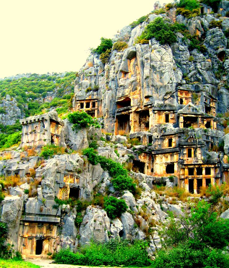 Demre-ANTALYA ~ Rock-cut tombs in Myra, an ancient town in Lycia, Turkey