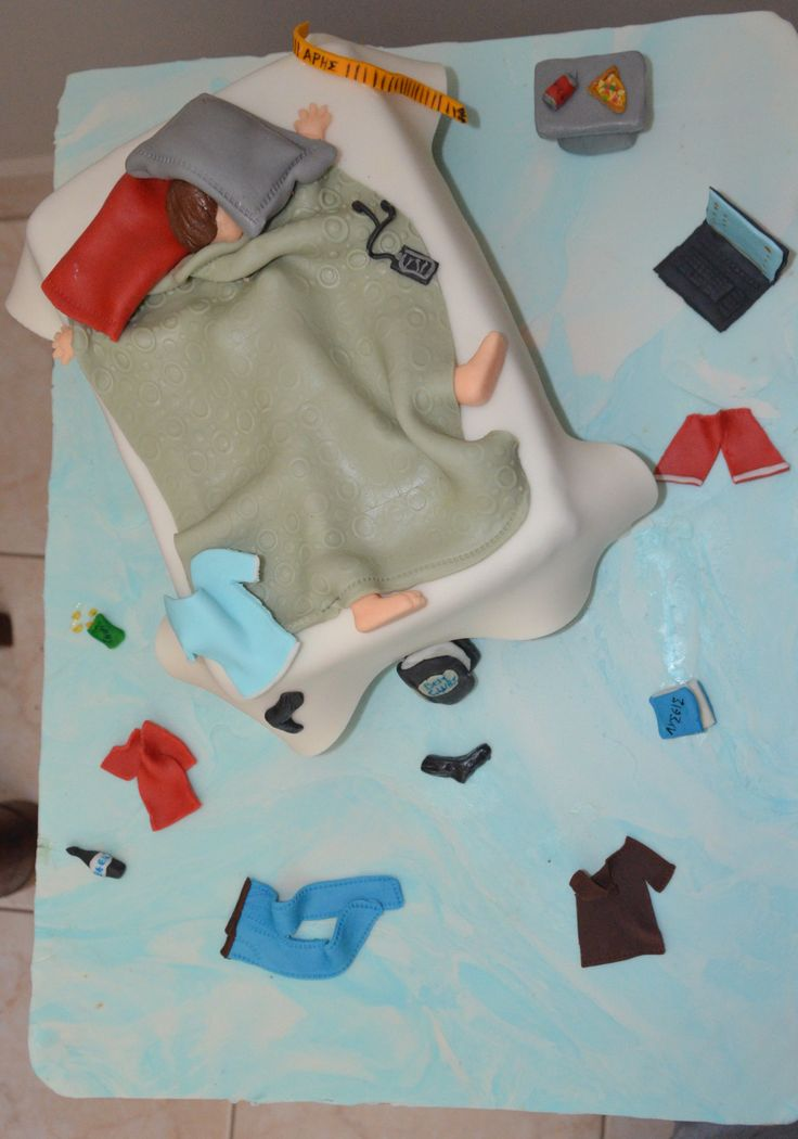 "Messy bedroom cake 4! Τούρτα ""εφηβικό-φοιτητικό δωμάτιο"" 4"