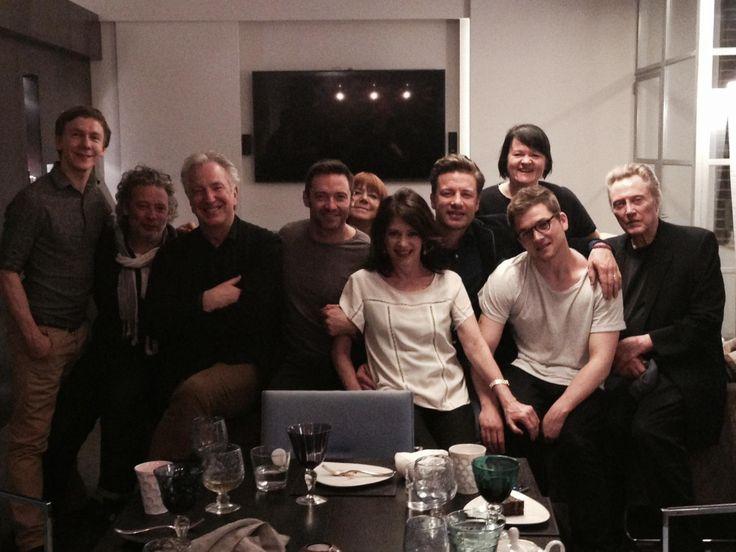 alan-and-rima:   October 3, 2015 - Alan Rickman, Rima Horton, actors Hugh Jackman and Christopher Walkin and others at a private dinner. Copyright © Dalia Ibelhauptaitė