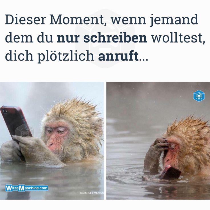 Dieser Moment wenn Sprüche - Anrufen anstatt zu schreiben - Affe mit Handy