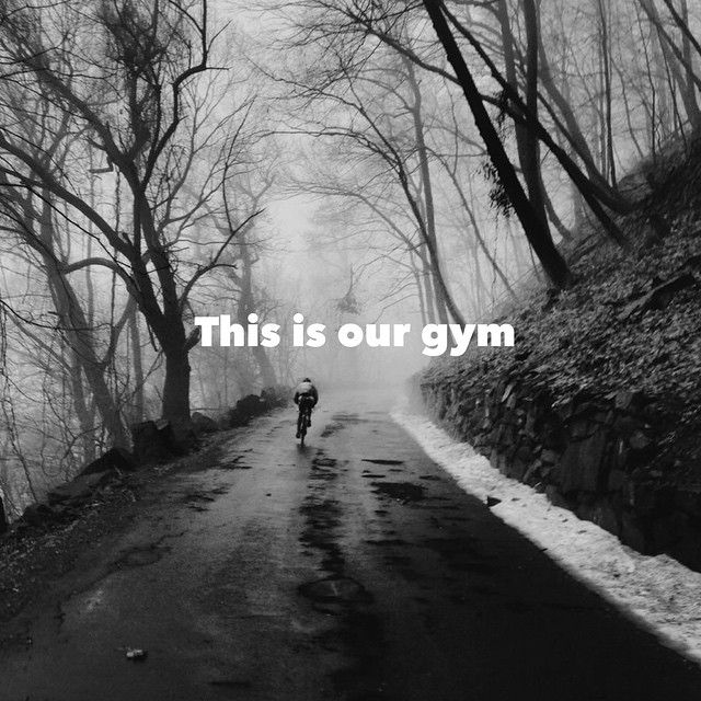 In January the gyms are full but our gym is empty! :) .  Please #cyclelikeagirl…