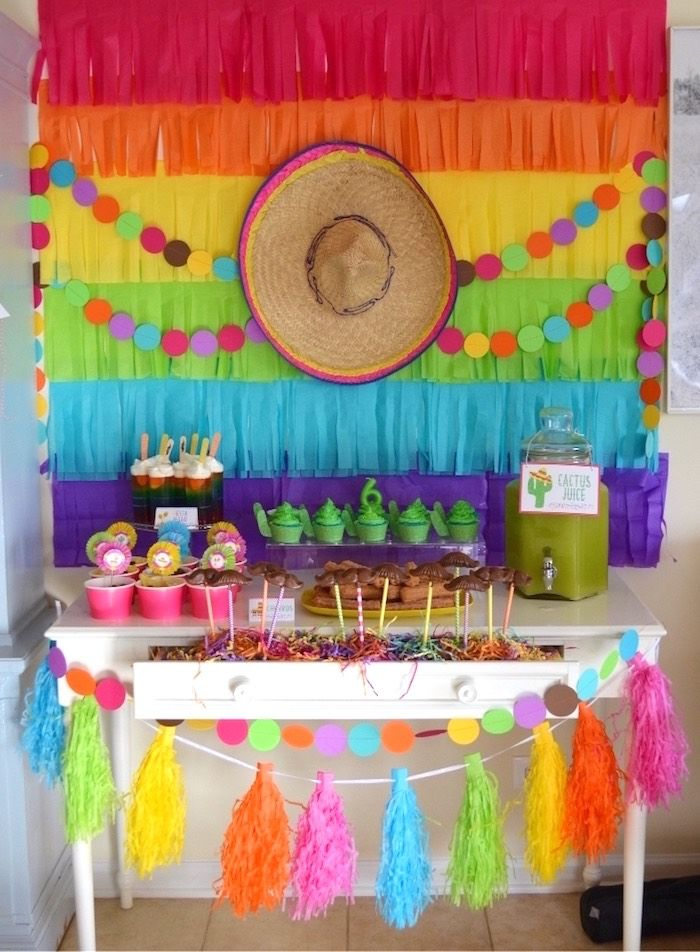 Fiesta Party Table From A Colorful Fiesta Birthday Party On Karau0027s Party  Ideas | KarasPartyIdeas. Part 87