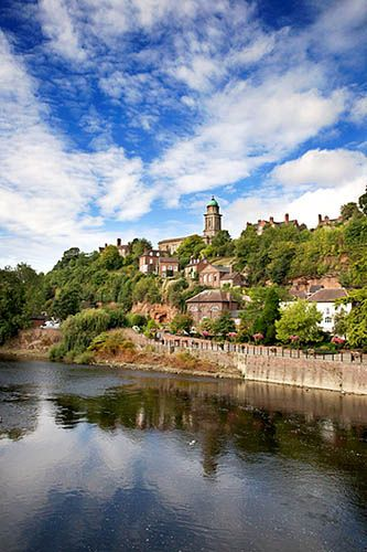 The Town of Bridgnorth on the River Severn Shropshire England, via Flickr.