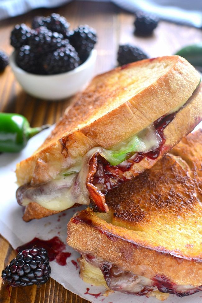 This Blackberry Bacon Grilled Cheese is the perfect combination ofsavory and sweet! Made with Swiss cheese, blackberry jam, fresh jalapeños, and crispy bacon, it's a must try for ALL sandwich lovers! Just in time for National Grilled Cheese Day! Blackberry Bacon Grilled Cheese   PREP TIME  : 5 mins  –  COOK...Read More »