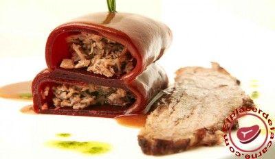 Carne de Ávila estofada con ravioli de remolacha - Elplacerdelacarne.com