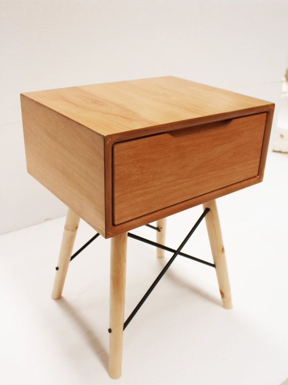 mid century nightstand handmade available by craftworksfurniture