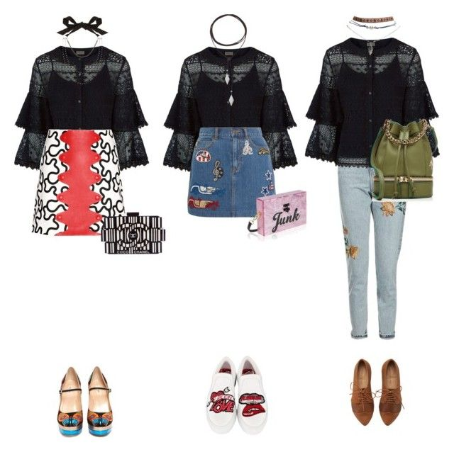 Love again by chau-bao-ngan on Polyvore featuring mode, Temperley London, J.W. Anderson, Topshop, Marc Jacobs, Wet Seal, Philipp Plein, Valentino, MANU Atelier and Chanel