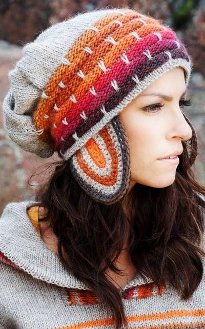 This knitted cap gives You real Lapland spirit!  Instructions in Finnish at Novita.fi.   YARN NOVITA 7 VELJESTÄ and NOVITA PURO