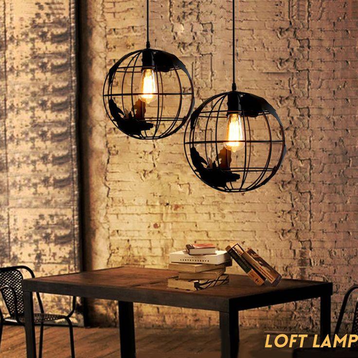 Loft Earth Globe Industrial Ceiling light Chandelier Pendant Lamp Fixture Bulb #Unbranded #Country