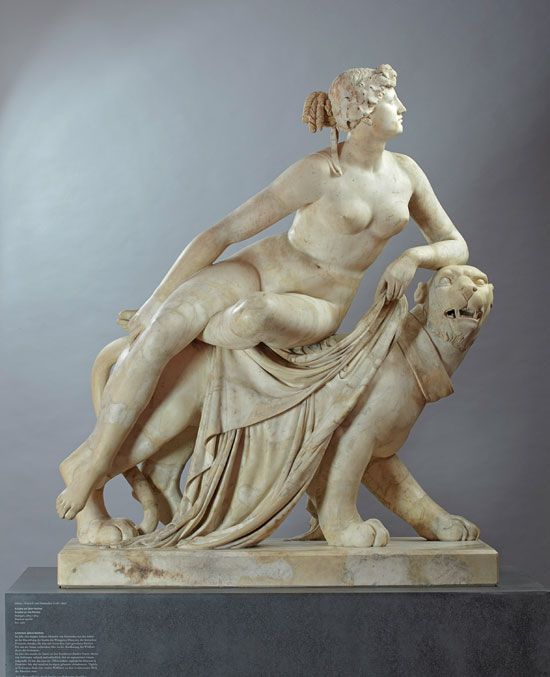 Johann Heinrich von Dannecker (1758-1841).  Ariadne on the Panther, 1803-1814, Marble, Height 146 cm. Liebieghaus Skulpturensammlung, Frankfurt am Main.