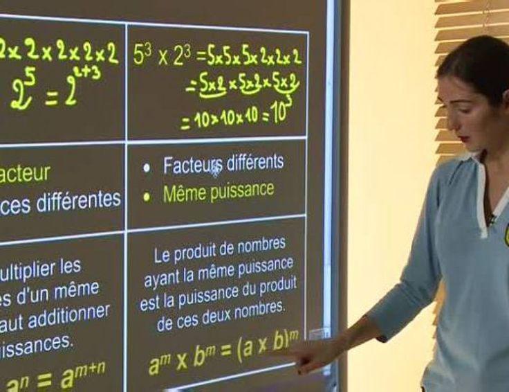 Les puissances : addition, soustraction, multiplication  Un nombre à la puissance « n » est un nombre multiplié n fois par lui-même.