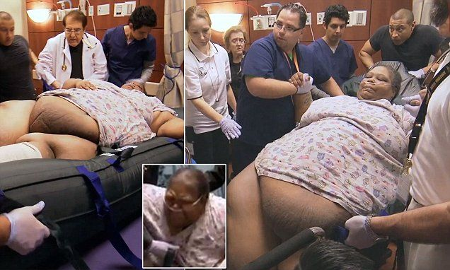 Teretha Hollis-Neely, 47, from Detroit, Michigan, moves to Houston, Texas, to meet with weight loss surgeon Dr. Younan Nowzaradan on Wednesday night's episode of My 600lb Life.