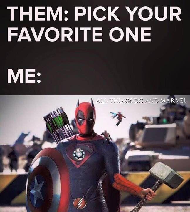 I see dead pool arrow Spiderman Thor Captain America superman Batman Antman the flash iron man