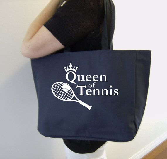 Tennis themed tote bag - tennis gift - polyester crafting tote bag - sports bag - original design tennis bag - sports gift - tennis bag