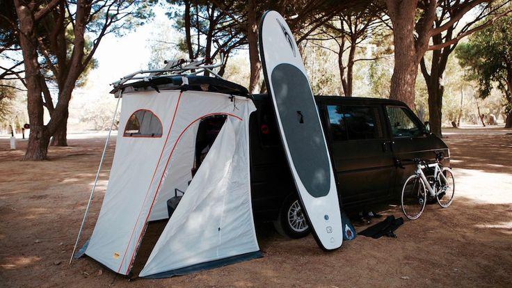 Algajola – Camping De La Plage, campen mit dem Bulli VW T4 auf Korsika