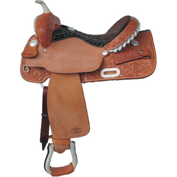 Billy Cook Barrel Racing Saddle with Hand Tooled Texas Oak