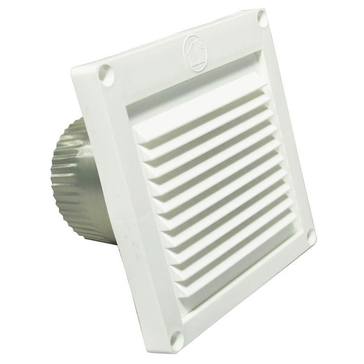 3 in. Micro Louver Eave Vent in White