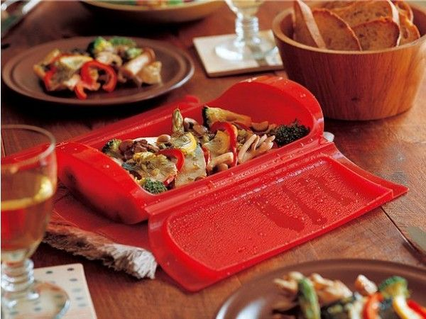 Lekue - Microwave Steamer Case - Red love the quick easy way to cook when you're in a rush