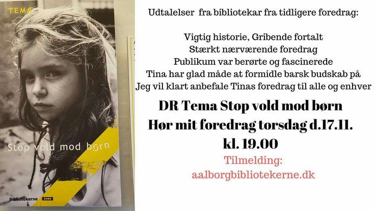#P4 og #DRSyd radio i morgen  mandag hvor jeg er i dem live pga. #DR tema #stopvoldmodbørn #jegerstoltmønsterbryder https://www.aalborgbibliotekerne.dk/Default.aspx?ID=148&Action=1&NewsId=1624&PID=371