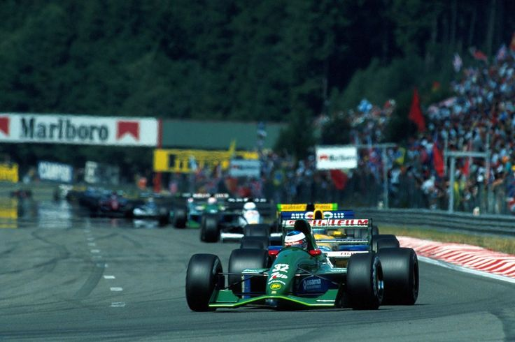 Michael Schumacher (Team 7UP Jordan), Jordan 191 - Ford HBA4 3.5 V8, 1991 Belgian Grand Prix, Circuit de Spa-Francorchamps