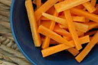 Bowl of Fermented Carrot Sticks