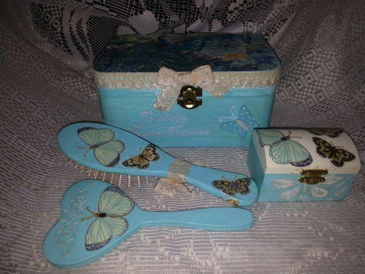 Decoupage box butterfly
