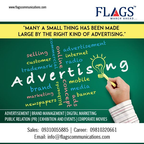 Make your brand stand out among the rest with Flags Advertising services.