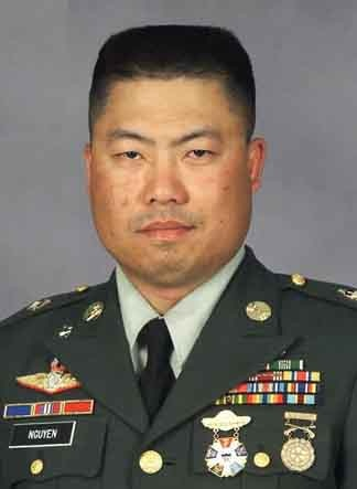 SFC Tung M. Nguyen   Senior A Detachment Communications Sergeant   Company B, 2nd Battalion, 3rd Special Forces Group (Airborne) Fort Bragg, N.C.   38 from Cantho, Vietnam, raised in Tracy, California and Resident of Raeford, North Carolina   KIA 14 November 2006 in Baghdad, Iraq,