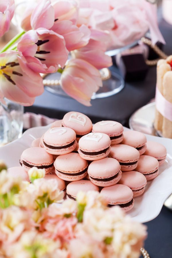 Pink Tulips and Macarons