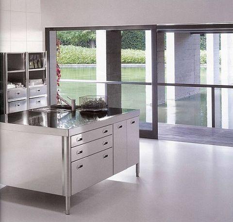 AlpesInox Edelstahl KüchenMöbel in 2020 Moderne küche