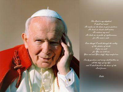free catholic screensavers | free desktop wallpaper of beatification pope john paul ii free
