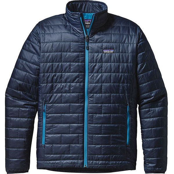 Patagonia Mens Nano Puff Jacket ($199) ❤ liked on Polyvore featuring men's fashion, men's clothing, men's outerwear, men's jackets, blue, mens lightweight jacket, patagonia mens jacket, mens puffer jacket and mens jackets
