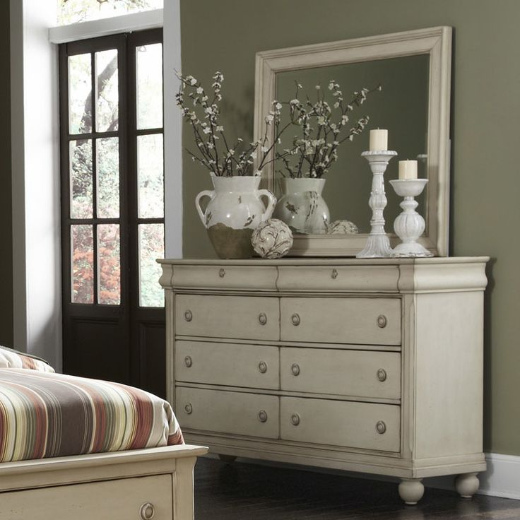 liberty furniture rustic traditions 8 drawer dresser with mirror - Mirrored Dresser Cheap