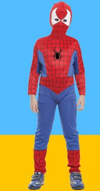 SPIDER SUPERMAN SUIT WITH HIDING SUITS AND HOODS