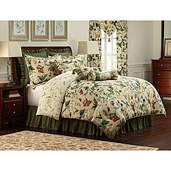 @Overstock - Add distinctive charm to your bedroom with this sophisticated comforter set from the Colonial Williamsburg Collection. A lovely floral print atop a soft, natural background highlights this comforter that reverses to a coordinating floral print.http://www.overstock.com/Bedding-Bath/Williamsburg-Garden-Images-9-piece-Queen-size-Comforter-Set/6493760/product.html?CID=214117 $375.00