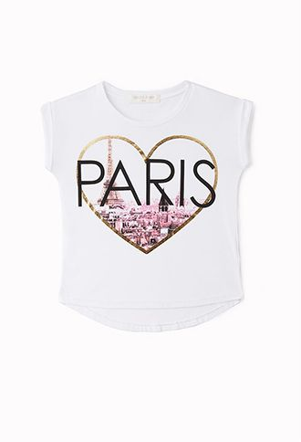 Parisian Heart Tee (Kids) | FOREVER21 girls - 2002246001