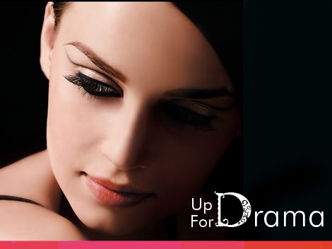 Discover our 'Up For Drama' look!  Take your imagination places as you try Chambor's Stay-On Waterproof Eyeliner Pencil not on your eyelids, but instead going higher on your crease-line.