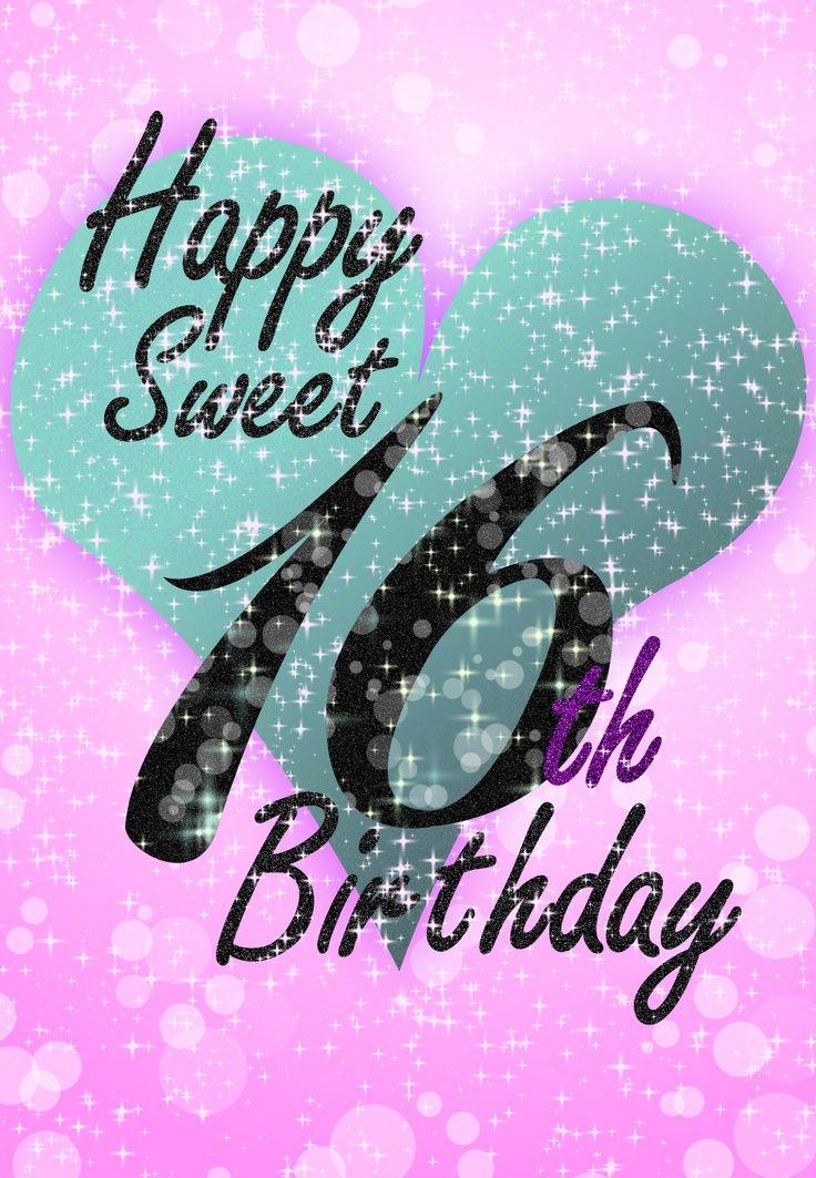 Happy Sweet 16 Birthday Cards Decorating Ideas Pinterest Sweet