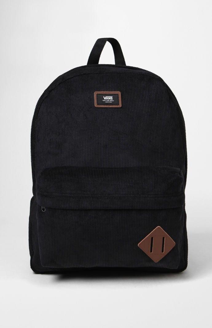 ef6356b180 VANS Vans Old Skool II Corduroy Black Backpack.  vans  bags  polyester   backpacks