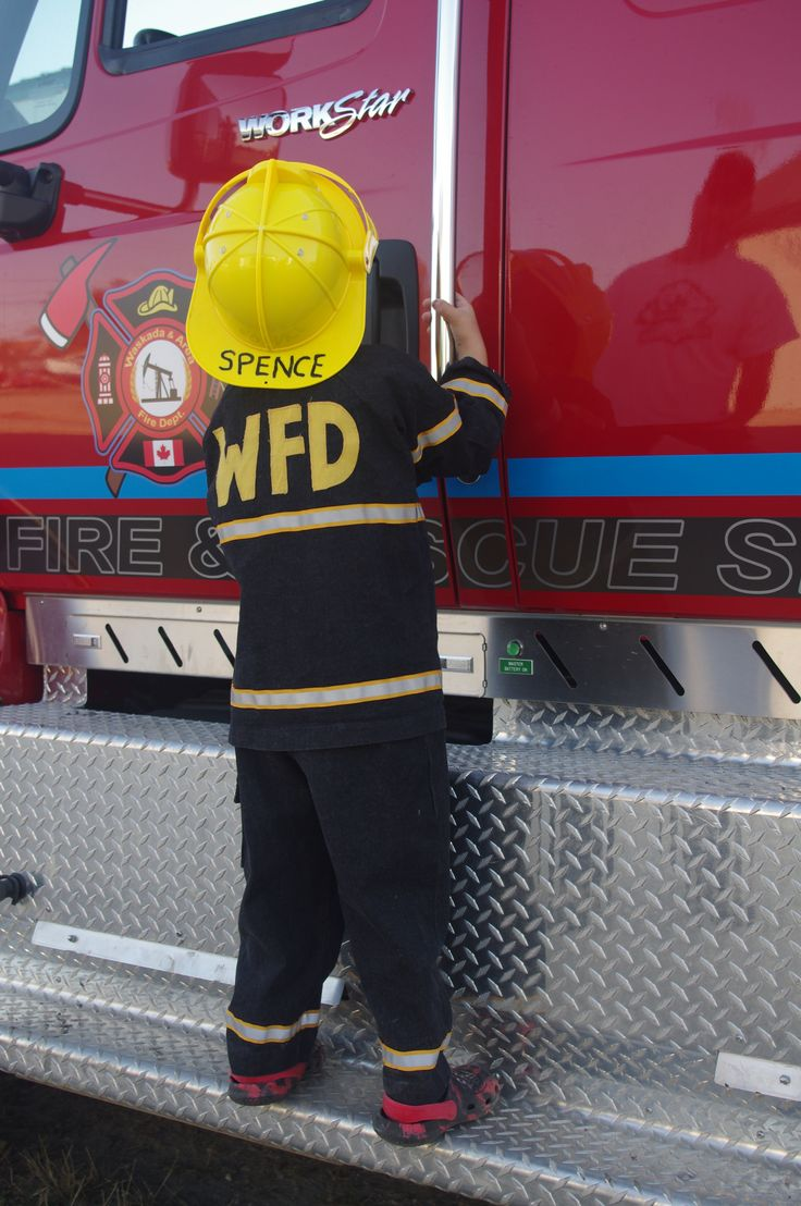 Small town Manitoba, where we start training our firefighters early!