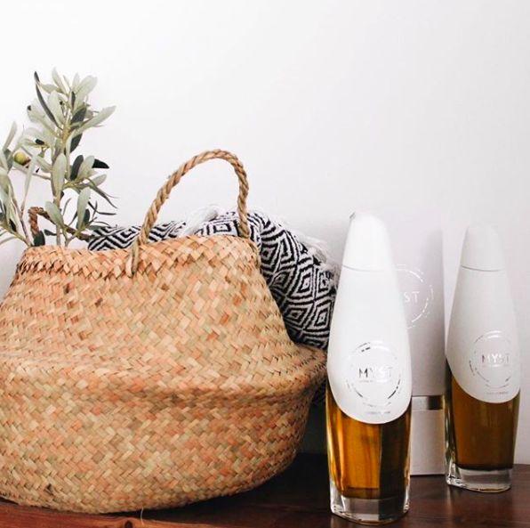 Myst olive oil, gourmet, packaging, design