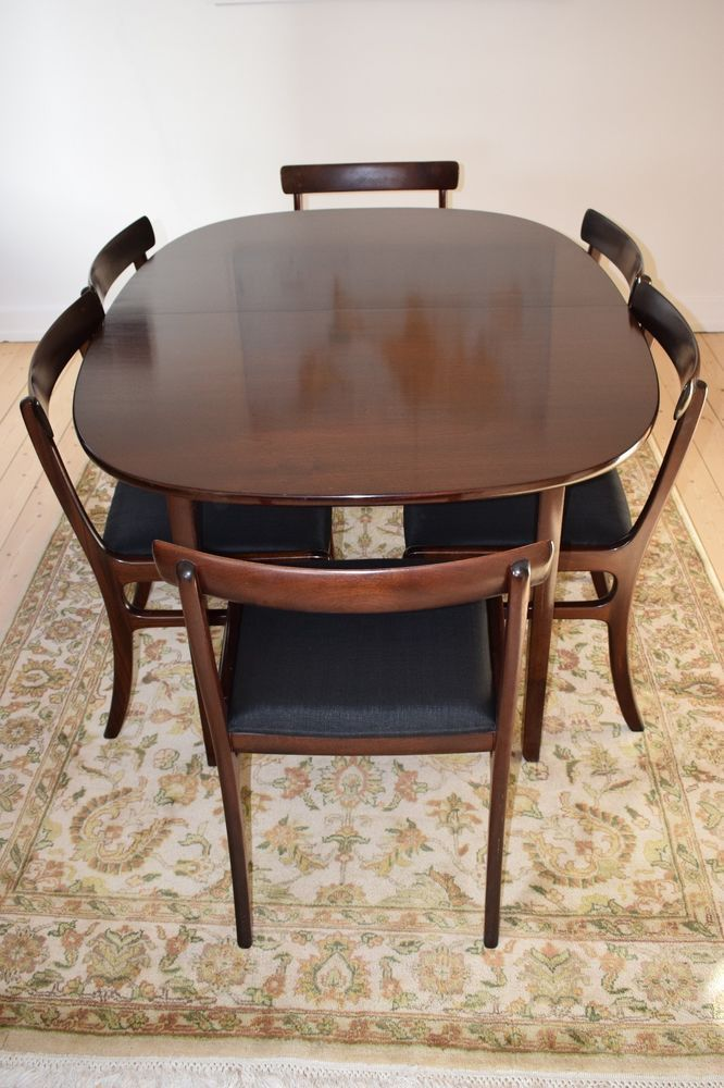 Danish mid century dining set in mahogany, Ole Wanscher, model Rungstedlund #MidCenturyModern #PJ