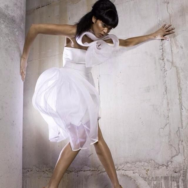 unique white fashion dress design chio couture Liverpool model photography