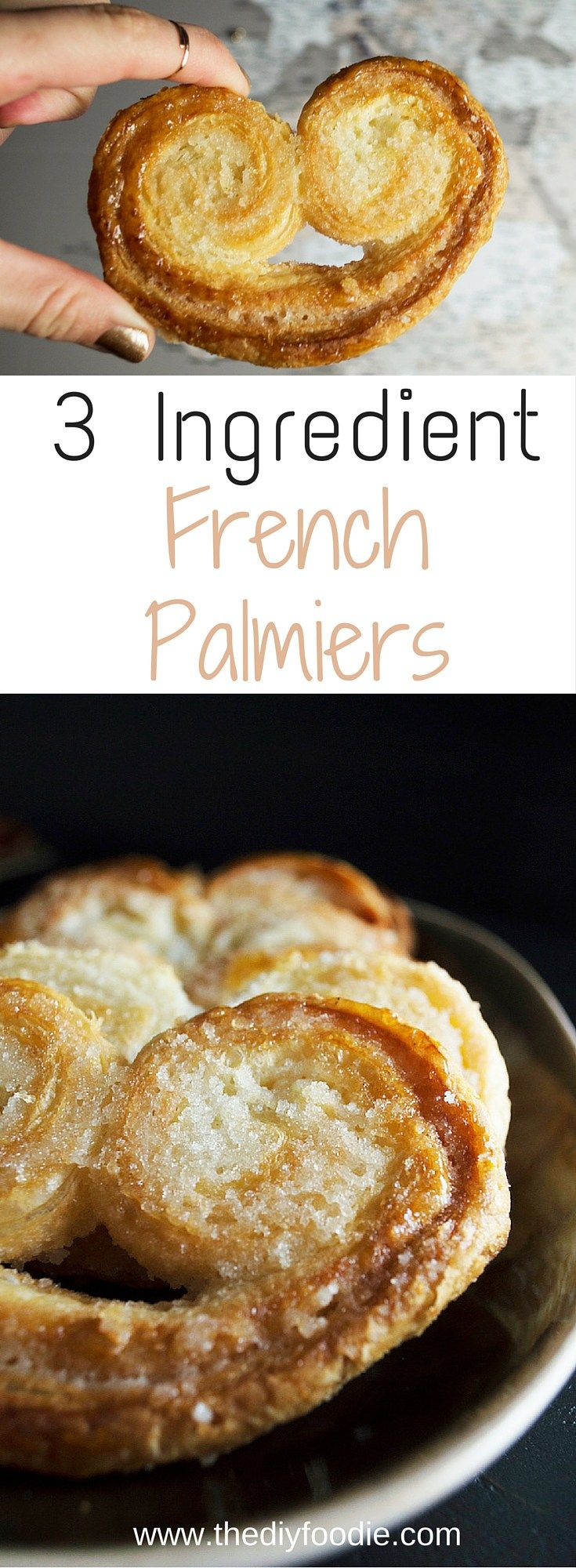 These 3 ingredients Palmiers and deliciously easy. The perfect treat for when I'm really missing the pastries from France!