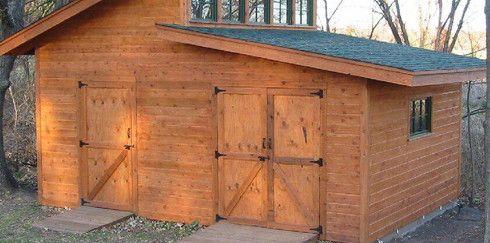 Как построить деревянный сарай своими руками