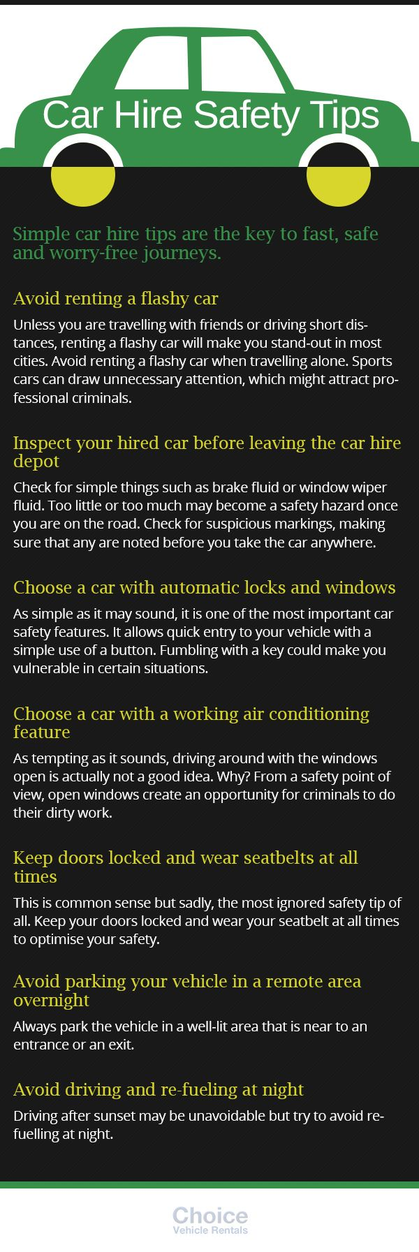 infographics here are some carhire tips you should always remember