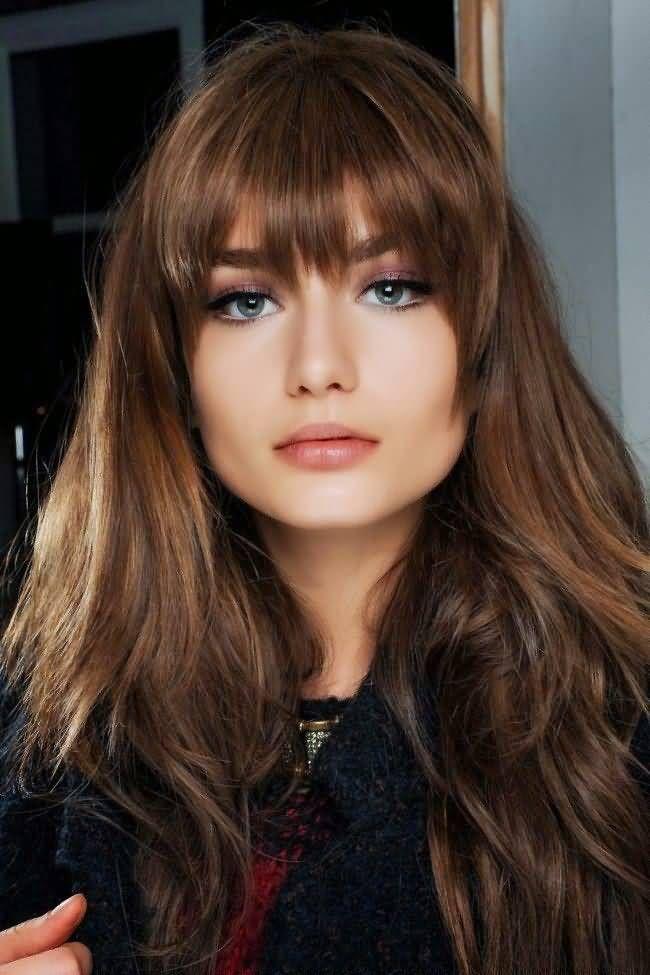 Long Brunette Hair With Highlighted Auburn Undertones Auburn Hair Color Picture
